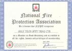 NFPA Membership Certificate