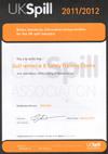 UKSpill Membership Certificate