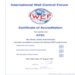 IWCF Certificate of Accreditation